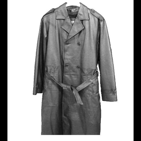 Maxxsel Other - Maxxsel_Buttons Black_Leather Trench Coat_Sz Large
